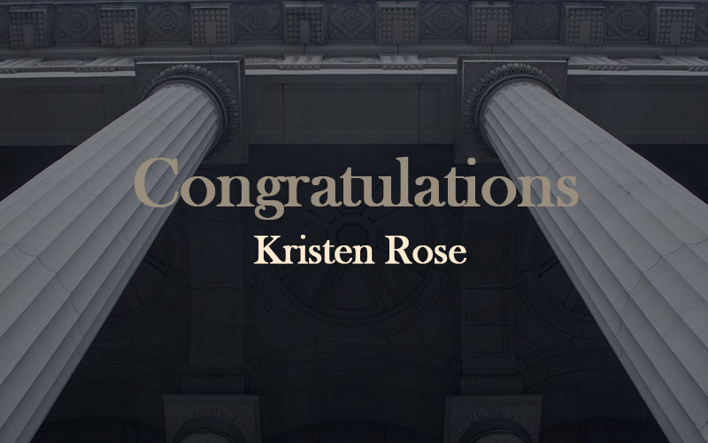 Kristen Rose Appointed Magistrate(18/02/2020)